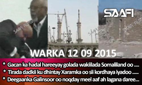 Photo of World News 12 09 2015 Gacan ka hadal hareeyay golaha wakiilada Somaliland.