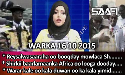 Photo of World News 16 10 2015 Reysalwasaaraha oo booqday mowlaca Sh. Muxudiin Celi ee Kaaraan.
