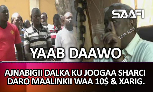"""Photo of Yaab:- """"Ajnabigii sharci daro dalka ku joogo maalintii waa 10$ & Kenyan badan oo.."""