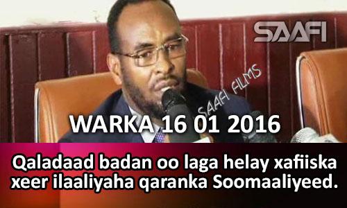 Photo of Warka Universal Tv 16 01 2016 Qaladaad badan oo laga helay xafiiska xeer ilaaliyaha qaranka Soomaaliyeed…