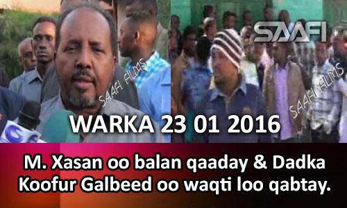 Photo of Warka Universal Tv 23 01 2016 M. Xasan oo balan qaaday & Dadka Koofur Galbeed oo waqti loo qabtay..