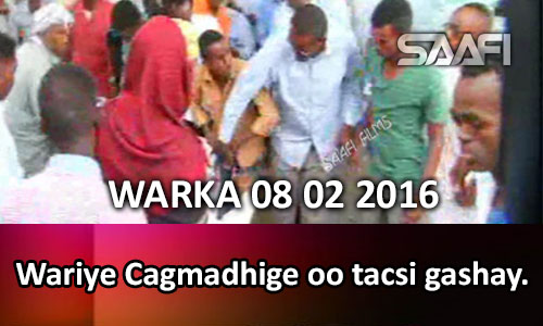Photo of WARKA 08 02 2016 Wariye Cagmadhige oo tacsi gashay..