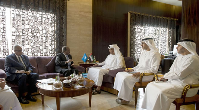Photo of Crown Prince of Abu Dhabi receives Somali president