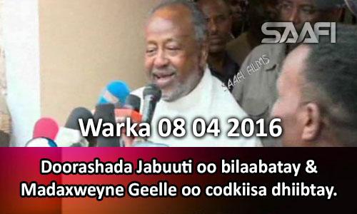 Photo of Warka 08 04 2016 Doorashada Jabuuti oo bilaabatay & madaxweyne Geelle oo codkiisa dhiibtay