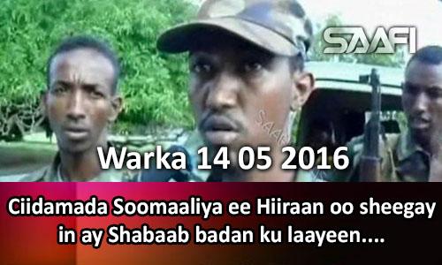 Photo of Warka 14 05 2016 Ciidamada Soomaaliya ee Hiiraan oo sheegay in ay Shabaab badan laayeen.