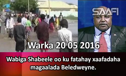 Photo of Warka 20 05 2016 Wabiga Shabeelle oo ku fatahay xaafadaha magaalada Beledweyne.