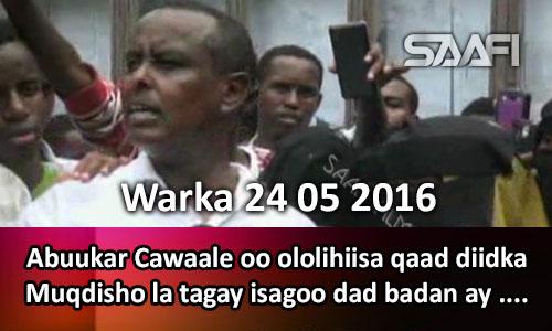 Photo of Warka 24 05 2016 Abuukar Cawaale oo ololihiisa qaad diidka Muqdisho la tagay isagoo dad badan.