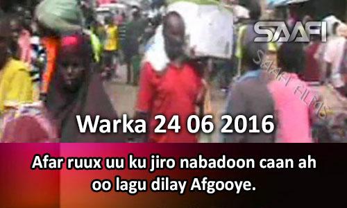 Photo of Warka 24 06 2016 Afar ruux uu ku jiro nabadoon caan ah oo Afgooye lagu dilay.