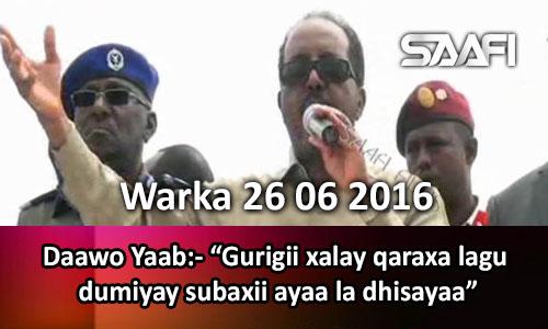 Photo of Warka 26 06 2016 Dadka Muqdisho oo gurigii qarax lagu dumiyo subaxiiba dhisaya.