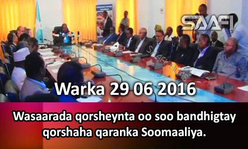 Photo of Warka 29 06 2016 Wasaarada qorsheynta oo soo bandhigtay qorshaha qaranka Soomaaliya.