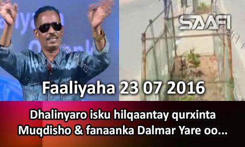 Photo of Faaliyaha Qaranka 23 07 2016 Dhalinyaro isku hilqaantay qurxinta Muqdisho & fanaanka Dalmar Yare oo..