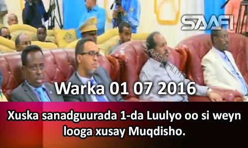 Photo of Warka 01 07 2016 Xuska sanadguurada 1-da Luulyo oo si weyn looga xusay Muqdisho.