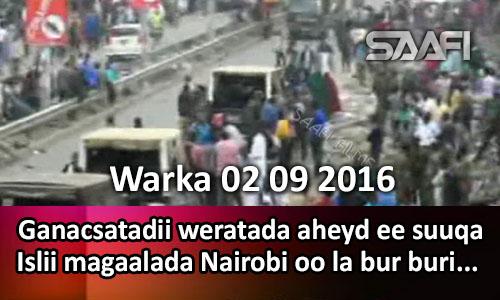 Photo of Warka 02 09 2016 Ganacsatadii weratada aheyd ee suuqa Islii oo ganacsigooda la bur buriyay.