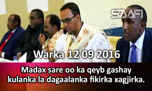 Photo of Warka 12 09 2016 Madax sare oo ka qeyb gashay kulanka la dagaalanka fikirka xagjirka.