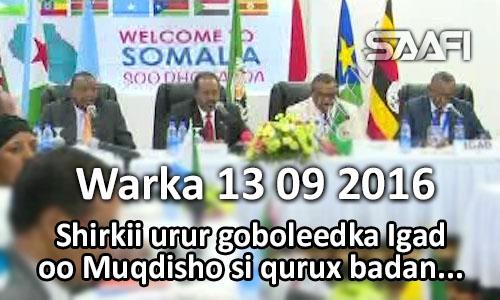 Photo of Warka 13 09 2016 Shirkii urur goboleedka Igad oo Muqdisho si qurux badan ugu qabsoomay.