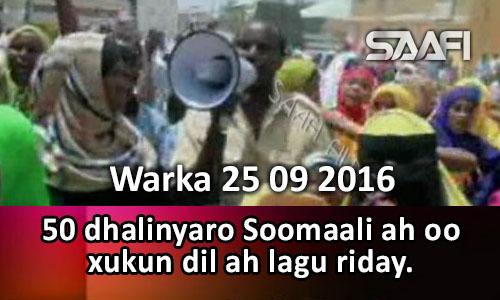 Photo of Warka 25 09 2016 50 Dhalinyaro Soomaali ah oo xukun dil ah lagu riday.