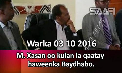 Photo of Warka 03 10 2016 M. Xasan oo kulan la qaatay haweenka Baydhabo.