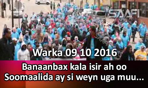 Photo of Warka 09 10 2016 Banaanbax kala isir ah oo Soomaalida si weyn uga muuqatay Mareykanka.