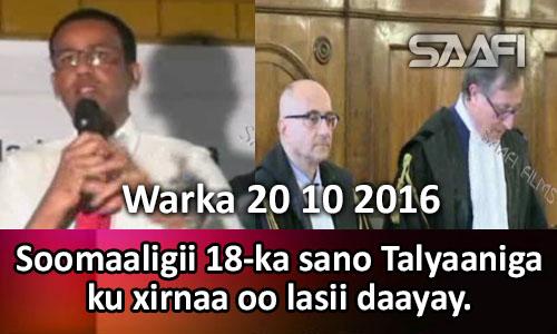 Photo of Warka 20 10 2016 Soomaaligii 18-ka sano ku xirnaa Talyaaniga oo lasii daayay.