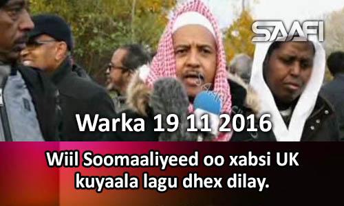Photo of Warka 19 11 2016 Wiil Soomaaliyeed oo xabsi UK kuyaala lagu dhex dilay.
