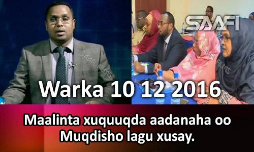 Photo of Warka 10 12 2016 Maalinta xuquuqda aadanaha oo Muqdisho lagu xusay.