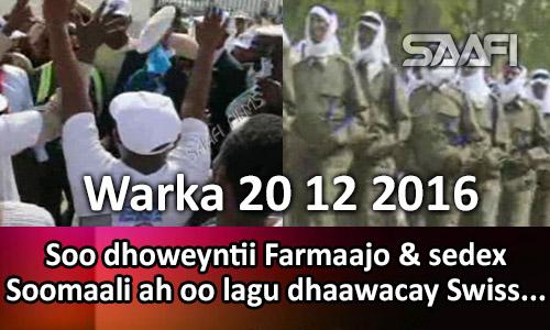 Photo of Warka 20 12 2016 Soo dhoweyntii Farmaajo & sedex Soomaali ah oo lagu dhaawacay Swiss…