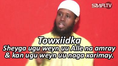 Photo of Towxiidka – Sheyga ugu weyn uu Ilaahey na amray & sheyga ugu weyn uu inaga xarimay.