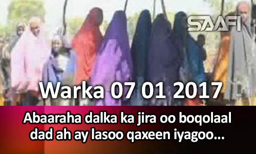 Photo of Warka 07 01 2017 Abaaraha ka jira dalka oo boqolaal dad ah ay lasoo qaxeen iyadoo…