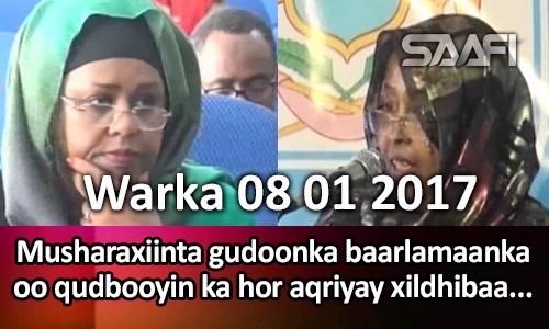 Photo of Warka 08 01 2017 Musharaxiinta gudoonka baarlamaanka oo qudbooyin kahor aqriyay xildhibaanada.
