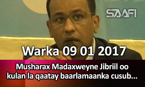 Photo of Warka 09 01 2017 Musharax madaxweyne Jibriil oo kulan la qaatay baarlamaanka cusub ee…