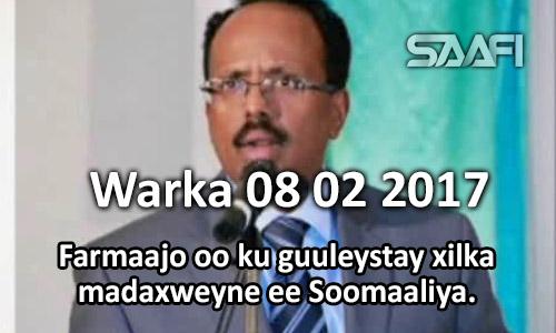 Photo of Warka 08 02 2017 Farmaajo oo ku guuleystay xilka madaxweyne ee Soomaaliya.