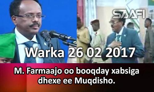 Photo of Warka 26 02 2017 M. Farmaajo oo booqday xabsiga dhexe ee Muqdisho.