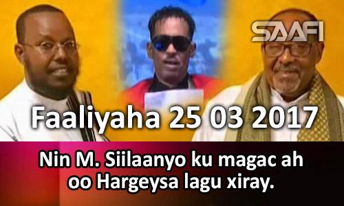 Photo of Faaliyaha 25 03 2017 Nin M. Siilaanyo ku magac ah oo Hargeysa lagu xiray.