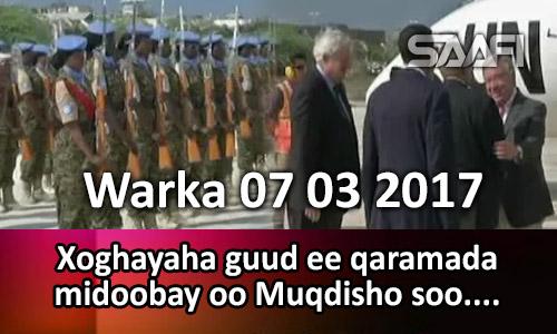 Photo of Warka 07 03 2017 Xoghaya guud ee qaramada midoobay oo Muqdisho soo gaaray.
