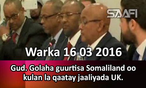 Photo of Warka 16 03 2017 Gud. Golaha guurtisa Somaliland oo kulan la qaatay jaaliyada UK.