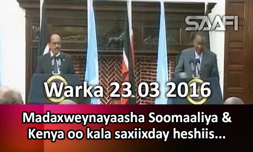 Photo of Warka 23 03 2017 Madaxweynayaasha Soomaaliya & Kenya oo kala saxiixday heshiis wax…
