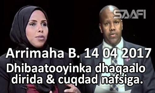 Photo of Dhibaatooyinka dhaqaale dirida & cuqdad nafsiga Arrimaha Bulshada 14 04 2017.