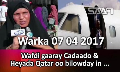 Photo of Warka 07 04 2017 Wafdi gaaray Cadaado & Heyada Qatar oo bilowday mashruuc…