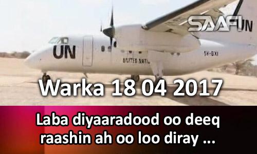 Photo of Warka 18 04 2017 Laba diyaaradood oo deeq raashin ah oo loo diray Guriceel.