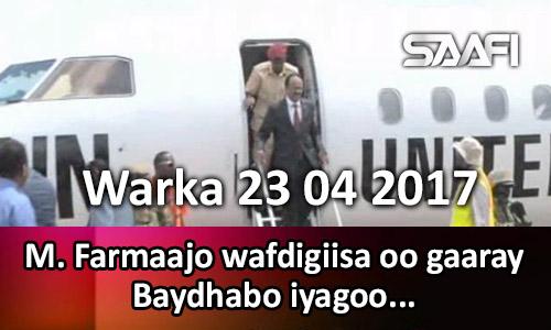 Photo of Warka 23 04 2017 M. Farmaajo & wafdigiisa oo gaaray Baydhabo iyagoo…