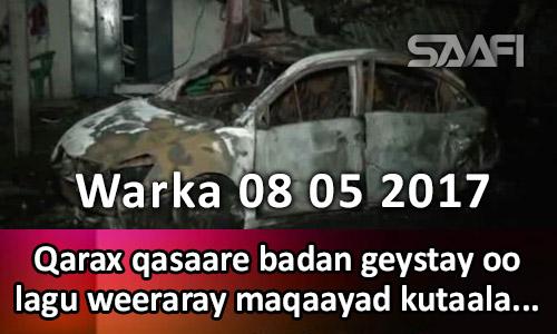 Photo of Warka 08 05 2017 Qarax qasaare badan geystay oo lagu weeraray maqaayad.
