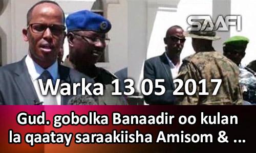 Photo of Warka 13 05 2017 Gud. gobolka Banaadir oo kulan la qaatay saraakiisha Amisom & …
