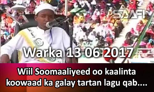 Photo of Warka 13 06 2017 Wiil Soomaaliyeed oo kaalinta koowaad ka galay tartan lagu qabtay…