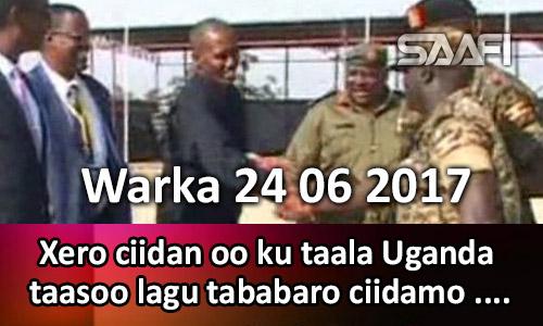 Photo of Warka 24 06 2017 Xero ciidan oo kutaala Uganda oo lagu tababaro ciidamo Soo…