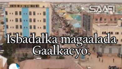 Photo of Isbadalka magaalada Gaalkacyo & shacabka oo sheegay in amniga uu wax weyn iska badalay.