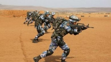 Photo of China held military drills in Africa for the first time ,with marines firing sniper rifles and machine guns