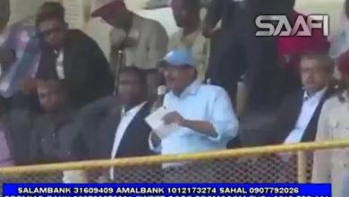 Photo of Khudbadii Madaxwayne Farmaajo Iyo Raisul Wasaare Khayre Stadium Muqdisho