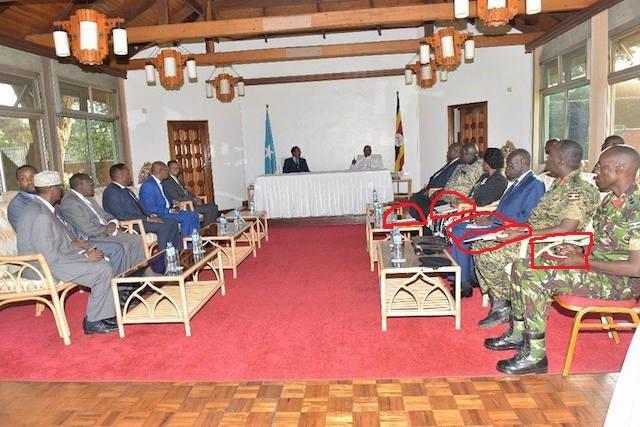Somali President Farmaajo Meets The President Of Uganda