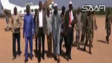 Sh Mukhtaar Roobow Abu Mansuur oo gaaraaya magaalada Xudur ee gobolka Bakool