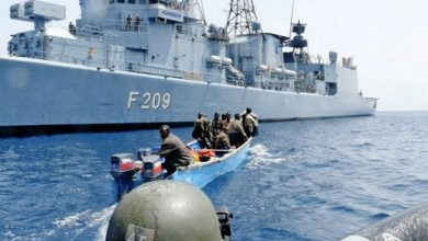 Photo of Suspected Pirate Vessels In Gulf Of Aden Dispersed By Chinese Navy